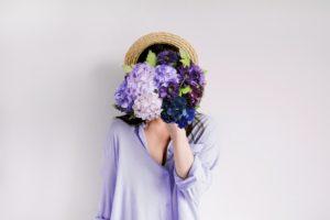 hydrangea, paper, flowers