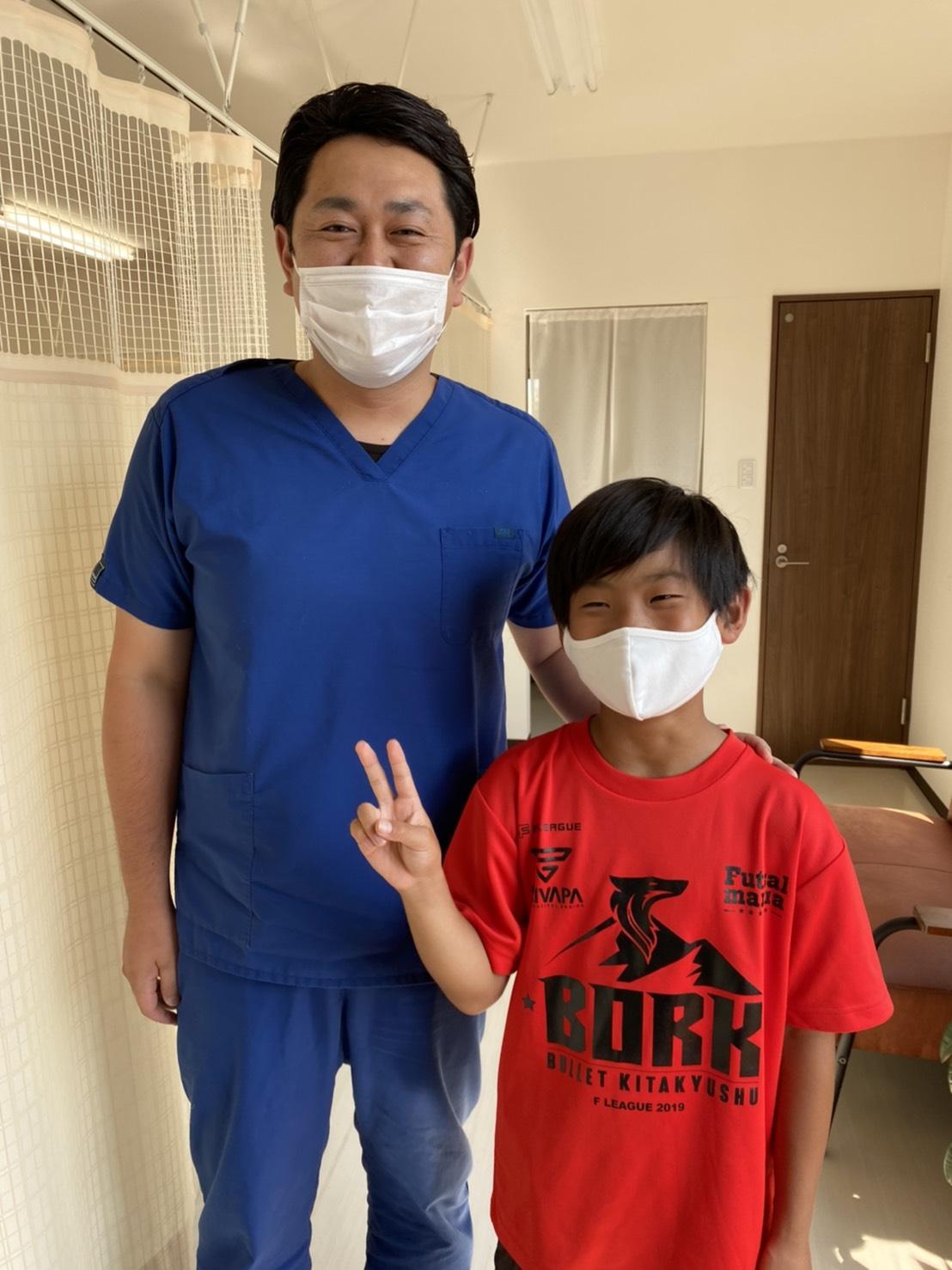 福岡市内からサッカー少年 シーバー病