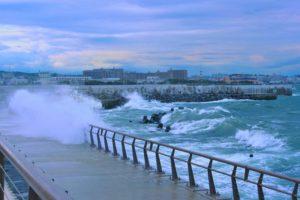 typhoon, sea, storm